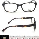 กรอบแว่นตา Lacoste L2833-012 เต็มกรอบสีน้ำตาลลายกะ ขาสปริงสีน้ำตาลลายกะ