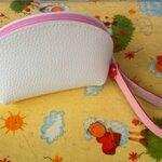 กระเป๋าใส่เหรียญสายสี 6x3.5นิ้ว สีชมพู