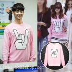 เสื้อแฟชั่นเกาหลี เสื้อกันหนาว SHINee SNSD สีชมพู