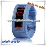 นาฬิกาแฟชั่น LED 70 LED Light Display, Multi LED Watch (Blue)