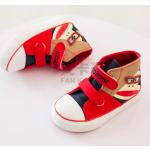 รองเท้าเด็กแฟชั่น สีแดง แพ็ค 6 คู่ ไซส์ 19-20-21-22-23-24
