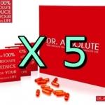 5 กล่อง แอปโซลูท รีดิวซ์ Dr. Absolute อาหารเสริมลดน้ำหนัก CLA PLUS ซีแอลเอ พลัส ลดความอ้วน ลดจริง ไม่โยโย่ ปลอดภัย มี อย.