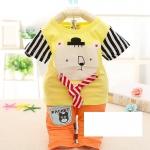ชุดเซ็ตเด็กเล็กลายหมีสีเหลือง
