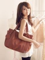 กระเป๋าแฟชั่น PG - 015 สีน้ำตาล (พร้อมส่ง)