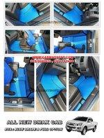 พรมปูพื้นรถยนต์ All New D-Max CAB ลายกระดุม สีน้ำเงินขอบดำ เต็มคัน 12 ชิ้น