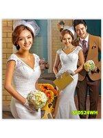 พรีออเดอร์ ชุดแต่งงาน มีไซด์ XS/S/M/L/XL/XXL/XXXL