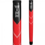 WINN MIDSIZE PISTOL PUTTER GRIP. BLACK / RED. 68WS-BRD