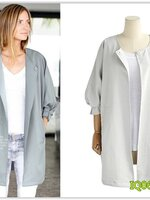 Pre เสื้อคลุม แฟชั่น ราคาถูก สีขาว มีไซด์ S/M/L/XL