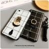 (668-002)เคสมือถือซัมซุง Samsung Galaxy Mega2 เคสนิ่มพื้นหลังลายตารางแหวนโลหะการ์ตูน