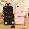 (688-003)เคสมือถือไอโฟน Case iPhone 6/6S เคสนิ่มตุ๊กตากระต่าย 3D น่ารักๆ