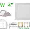 โคมไฟ LED Panel Downlight ดาวไลท์ 9W สี่เหลี่ยม