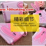 (388-048)เคสมือถือซัมซุงโน๊ต Case Note4 เคสนิ่มใสกระต่าย 3D หูใช้ตั้งโทรศัพท์ได้
