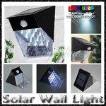(316-014)ไฟพลังงานแสงอาทิตย์แต่งสวน 12LED ติดกำแพงมีระบบ Sensor