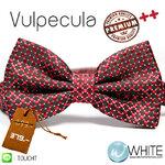 Vulpecula - หูกระต่าย สีแดงหม่น จุดเหลี่ยม สีแดงหม่นเข้ม ดิ้นเงิน Premium Quality++ (BT319) by WhiteMKT