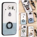 (025-1005)เคสมือถือซัมซุง Case Samsung S6 edge เคสนิ่มซิลิโคนลายน่ารัก พร้อมแหวนมือถือและสายคล้องคอถอดแยกสายได้