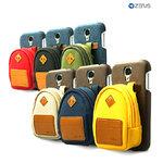 Zenus : Leather Case Walnutt Mini Back Pack For Samsung Galaxy S4, S IV, i9500