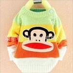 เสื้อกันหนาวไหมพรมลิงน่ารัก สำหรับเด็กเล็กจ้า 3 เดือน - อายุ 1 ปี แจ้งอายุด้วยคะ่