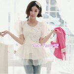 White fairy angle blouse