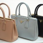 Prada Saffiano BRUSHED CALF LEATHER TOTE top premium grade 25