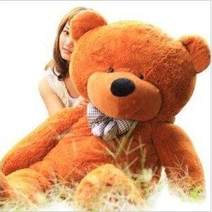 ตุ๊กตาหมีผูกโบว์สีน้ำตาลเข้ม ขนาด 1.6 m.