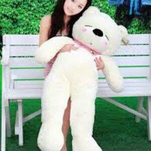 ตุ๊กตาหมีหลับ สีขาว ขนาด 1.2 m.