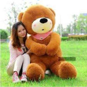 ตุ๊กตาหมีหลับ สีน้ำตาลเข้ม ขนาด 1.6 m.