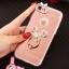 (025-979)เคสมือถือไอโฟน Case iPhone7/iPhone8 เคสนิ่มซิลิโคนใสลายหรูติดคริสตัล พร้อมแหวนเพชรวางโทรศัพท์ และสายคล้องคอถอดแยกสายได้ thumbnail 4
