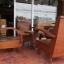 ชุดเก้าอี้รถถังแขนโค้ง ขาเหลาหุ้มปลอกทองเหลือง รหัส11457cw thumbnail 1