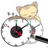 นาฬิกาสติกเกอร์ รุ่น10A104