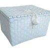 ตะกร้าสานพลาสติก กระเป๋าสานพลาสติก PNSW ไม่มีสาย   กว้าง 19 cm. ยาว 23 cm. สูง 14 cm