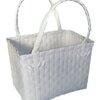 ตะกร้าสานพลาสติก กระเป๋าสานพลาสติก JLS-White   กว้าง 16.5 cm. ยาว 27 cm. สูง 19.5 cm.