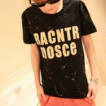 เสื้อยืดสีดำ Racntrnosce