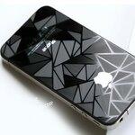 ฟิล์มกันรอย 3D ลายสามเหลี่ยมเพชรปิรมิด IPhone 4/4s