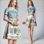 M5804176 / S M L XL / 2015 Fashion dress พรีออเดอร์เดรสแฟชั่นงานเกรดยุโรป สวยดูดีมีสไตล์ นางแบบใส่ชุดจริง เป๊ะเว่อร์!