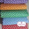 เซ็ท 5ชิ้น :ผ้าคอตตอนไทย 5 สี ลายดอกบ๊วยสีขาว