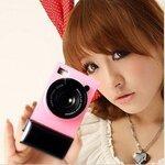 เคสไอโฟน5/5s (Case Iphone5/5s) Hard Case ( i camera case กล้องถ่ายรูป สีชมพูอ่อน )