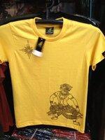 ลายหนุมานหาว size XL (T-shirt LineTHAI : Hanuman) สีเหลือง