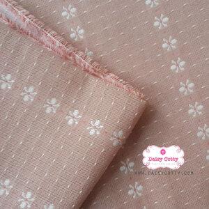 ผ้าทอญี่ปุ่น 1/4ม.(50×55ซม.)สีส้มโอรส ทอลายดอก