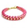 ##สินค้าหมดชั่วคราว## ของแท้ !!! สร้อยข้อมือถัก + โลหะ ยี่ห้อ Forever 21 สุดหรู อลังการ ในราคาส่ง ให้สคุณเริ่ดได้สไตล์สาว F21 มี โทนสีชมพู สีเขียว สีเหลือง สีแดง และ Mix Color