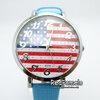 นาฬิกาข้อมือ ลายอังกฤษ เข็มและขอบสีเงิน นาฬิกา สายเล็กใส่สบาย