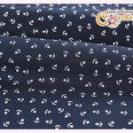 ผ้าคอตตอนไทยสีน้ำเงิน ลายสมอเล็ก