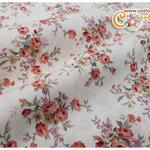ผ้าคอตตอนไทยลายช่อดอกไม้ (ขนาด 50x55ซม)