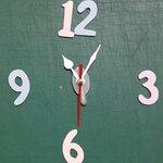 ชุดตัวเครื่องนาฬิกาญื่ปุนเดินเรียบ เข็มลายใบโพธิ์ ขนาดเล็ก เข็มสั้น-เข็มยาวสีขาว เข็มวินาทีสีแดง อุปกรณ์ DIY
