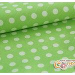 ผ้าคอตตอนผสมลินินพื้นสีเขียวอ่อนลายจุดเล็ก