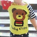 ชุดเด็ก ลาย Baby Bear2(เซท) ไซส์ 18,23ด (เสื้อเด็ก+กางเกงเด็ก)