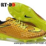 รองเท้าฟุตบอลNike Hypervenom Phantom Premium FG Soccer Shoes Gold Volt Black ไซส์ 39-44 งานระดับTop High Qulity 4A ดันทรง+ถุงผ้าฟรีEms