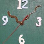 ชุดตัวเครื่องนาฬิกาญื่ปุนเดินเรียบ เข็มลายเส้นโค้ง ขนาดกลาง เข็มสั้น-เข็มยาวสีน้ำตาล เข็มวินาทีสีแดง อุปกรณ์ DIY