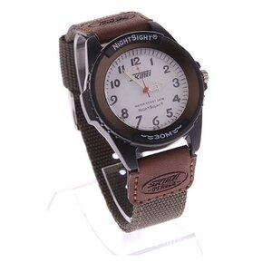 นาฬิกาข้อมือชาย NightSight สายผ้า กันน้ำ