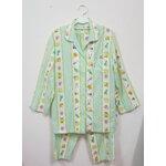 Jp540 ชุดนอนเสื้อกางเกง ผ้า cotton ลายน่ารัก ๆ โทนสีเขียว ผ้า cotton เกรดเอ
