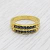 แหวนพลอยไพลินแท้ หุ้มทองคำแท้ ไซส์ 58